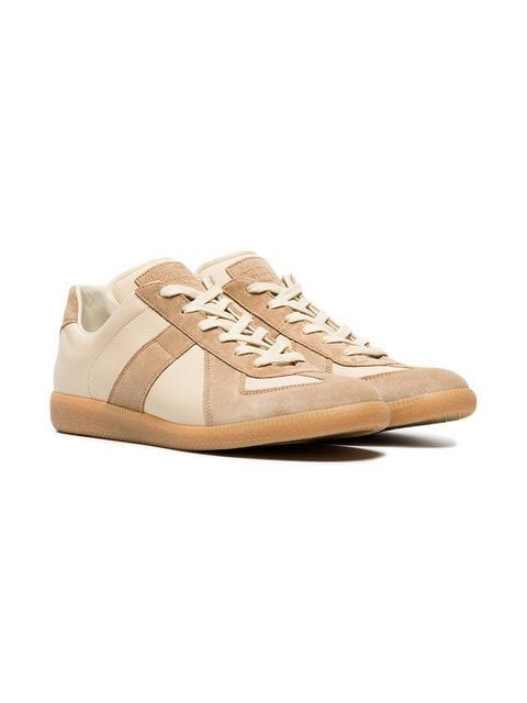 f21eabc333d Maison Margiela Nude And Brown Replica Leather Sneakers | Clothing ...