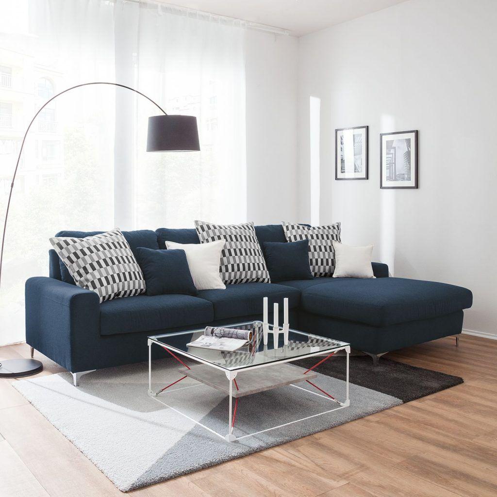 Ecksofa Vitinia Webstoff Longchair Ottomane Davorstehend Rechts Blau 4910180 Ecksofas Ecksofa Sofa Design