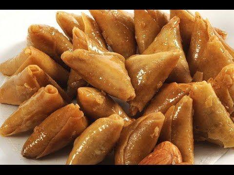 حلويات رمضان طريقة عمل السمبوسة الحلوة Syrian Food Food Desserts
