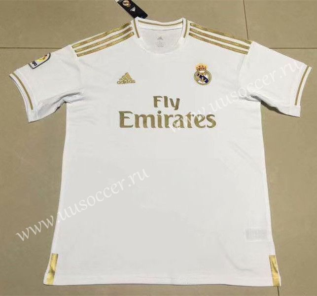c1301e2a6 2019-2020 Real Madrid Home White Thailand Soccer Jersey AAA