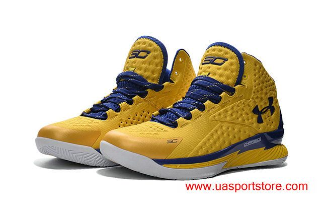 Under Armour UA Curry 1 All Yellow Blue