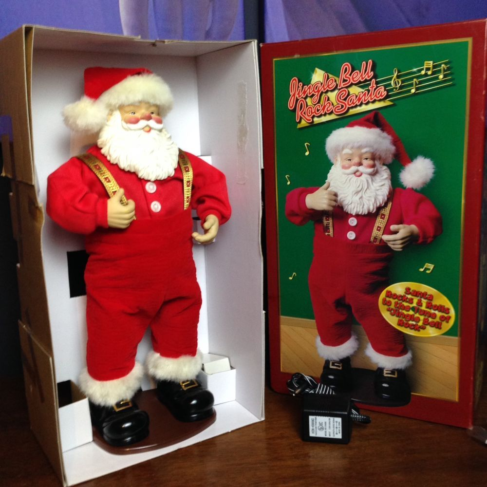 Animated Santa Dancing Jingle Bell Rock 16 Christmas Fantasy Limited 1998 Christmasfantasy 16 Christmas Christmas Items Jingle Bells