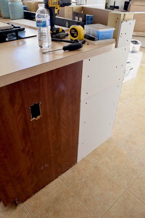 diy breakfast bar frame built to an existing kitchen island diy breakfast bar frame built to an existing kitchen island      rh   pinterest com
