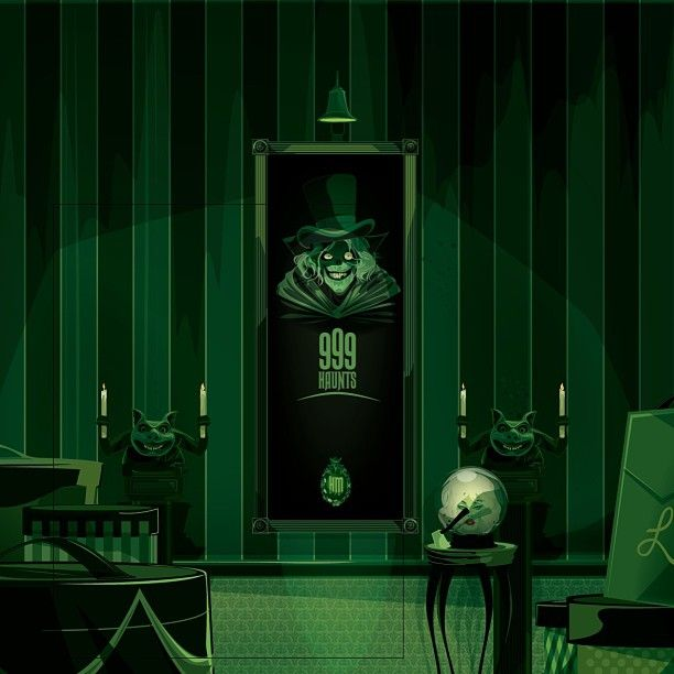 Haunted mansion concept art by ragnar a r t i l l u s for Haunted dining room ideas
