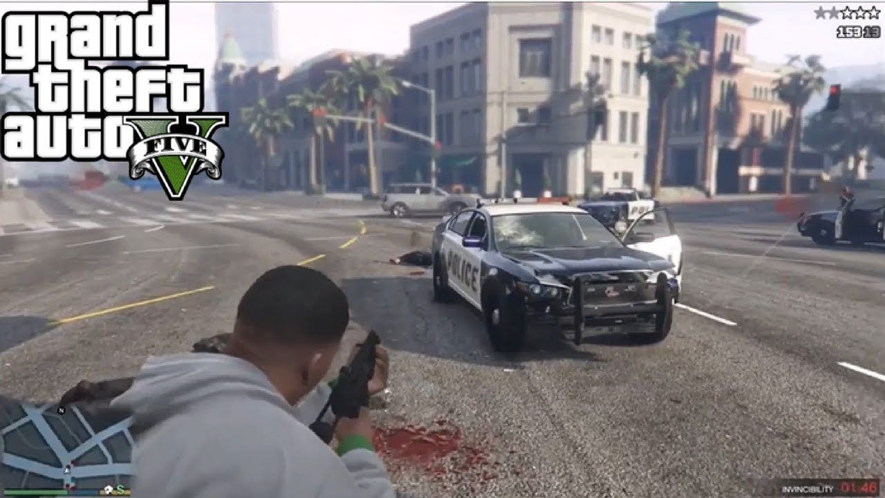 Fk The Police / Greatest Police Standoff /(GTA5)/ With Cheats