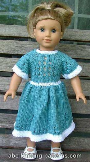 American Girl Doll Eyelet Dress Free Knitting Pattern Crochet