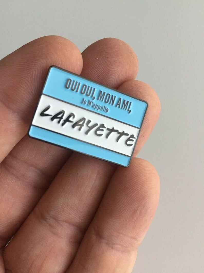 Hamilton Musical Musical Lafayette Enamel Pin Brass Alexander as mentioned on Buzzfeed