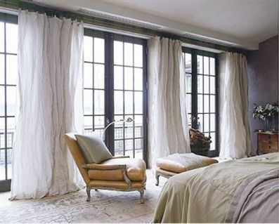Warm Up Your French Doors With Curtains Curtain Tracks Drapery