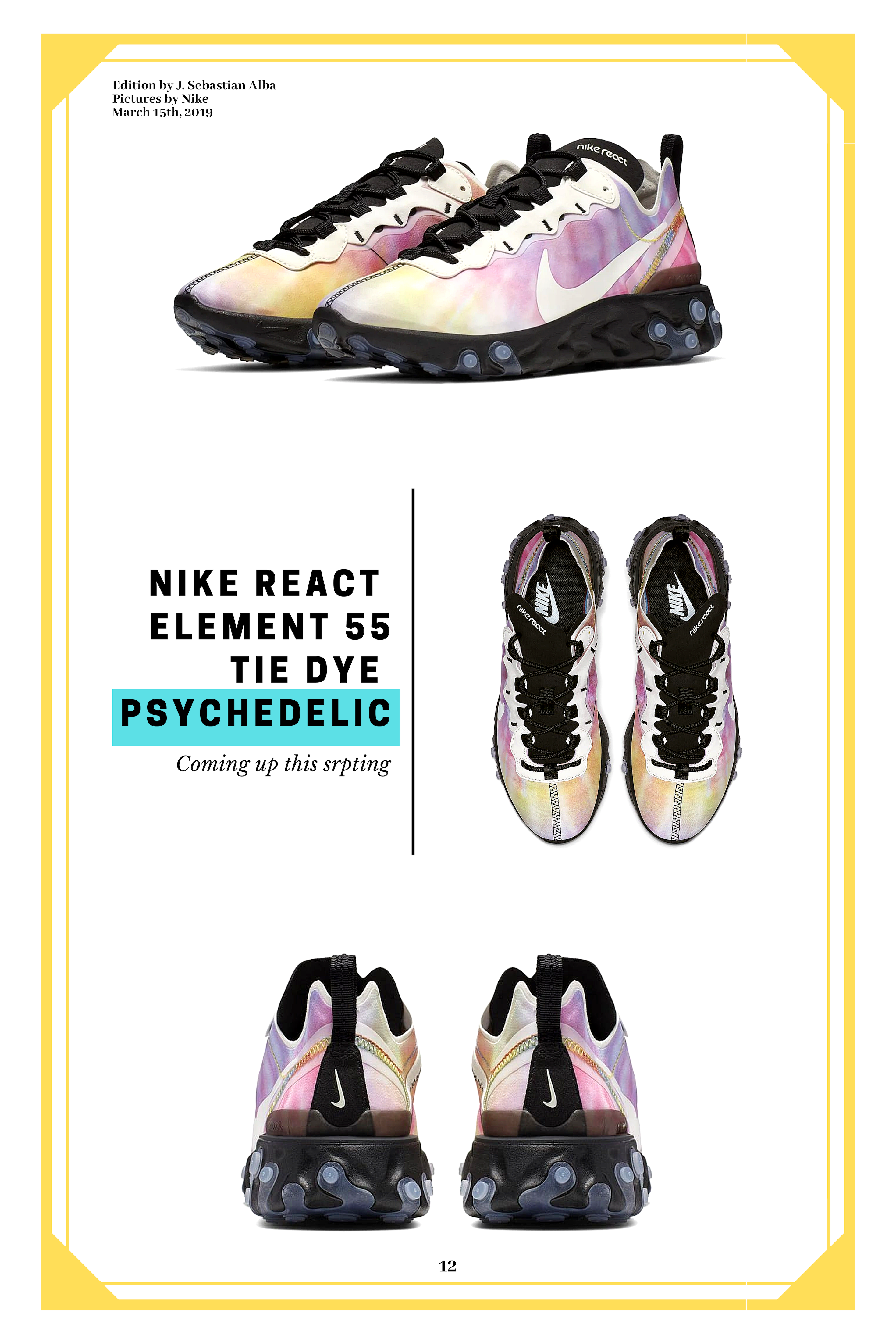 new style 43974 bcbd3 A new colorway for the popular Nike React Element 55, with a psychedelic  approach that