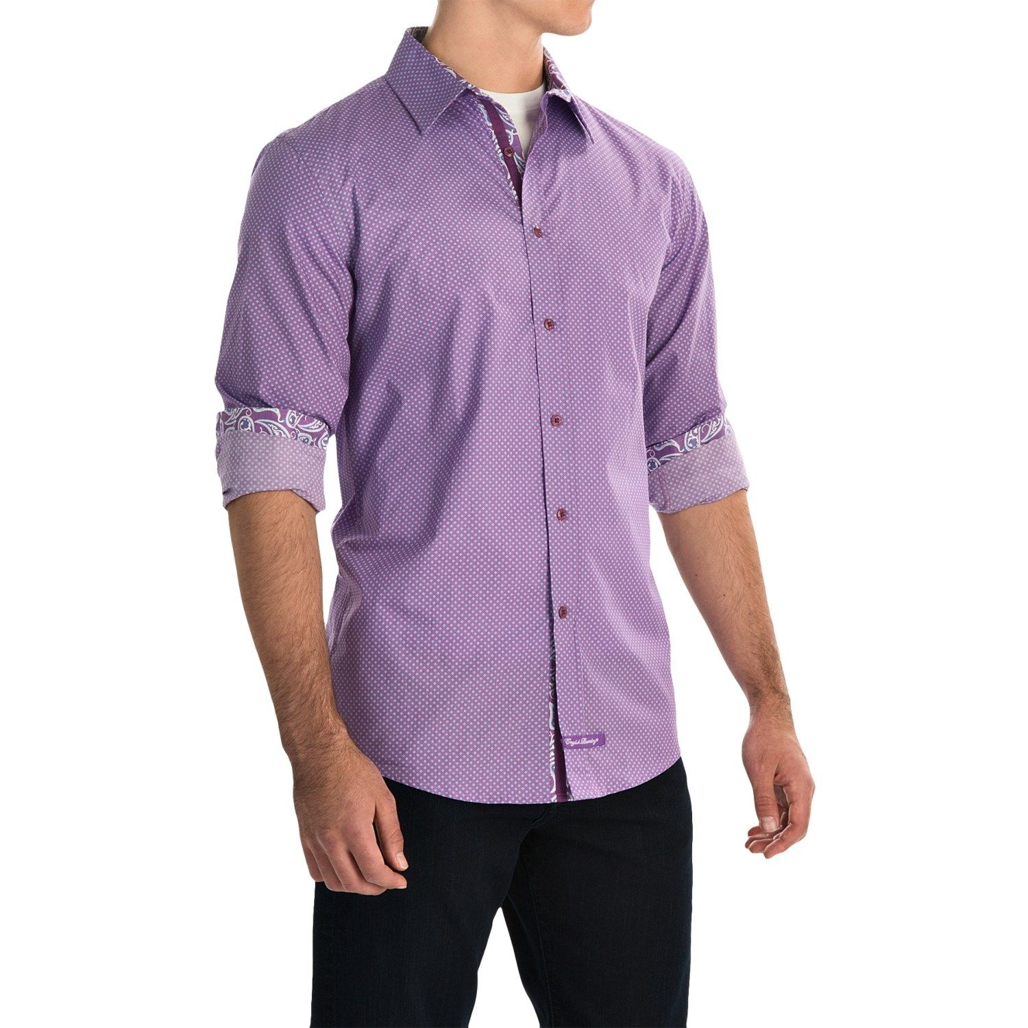 English Laundry Abstract Sport Shirt (For Men) - Save 40%