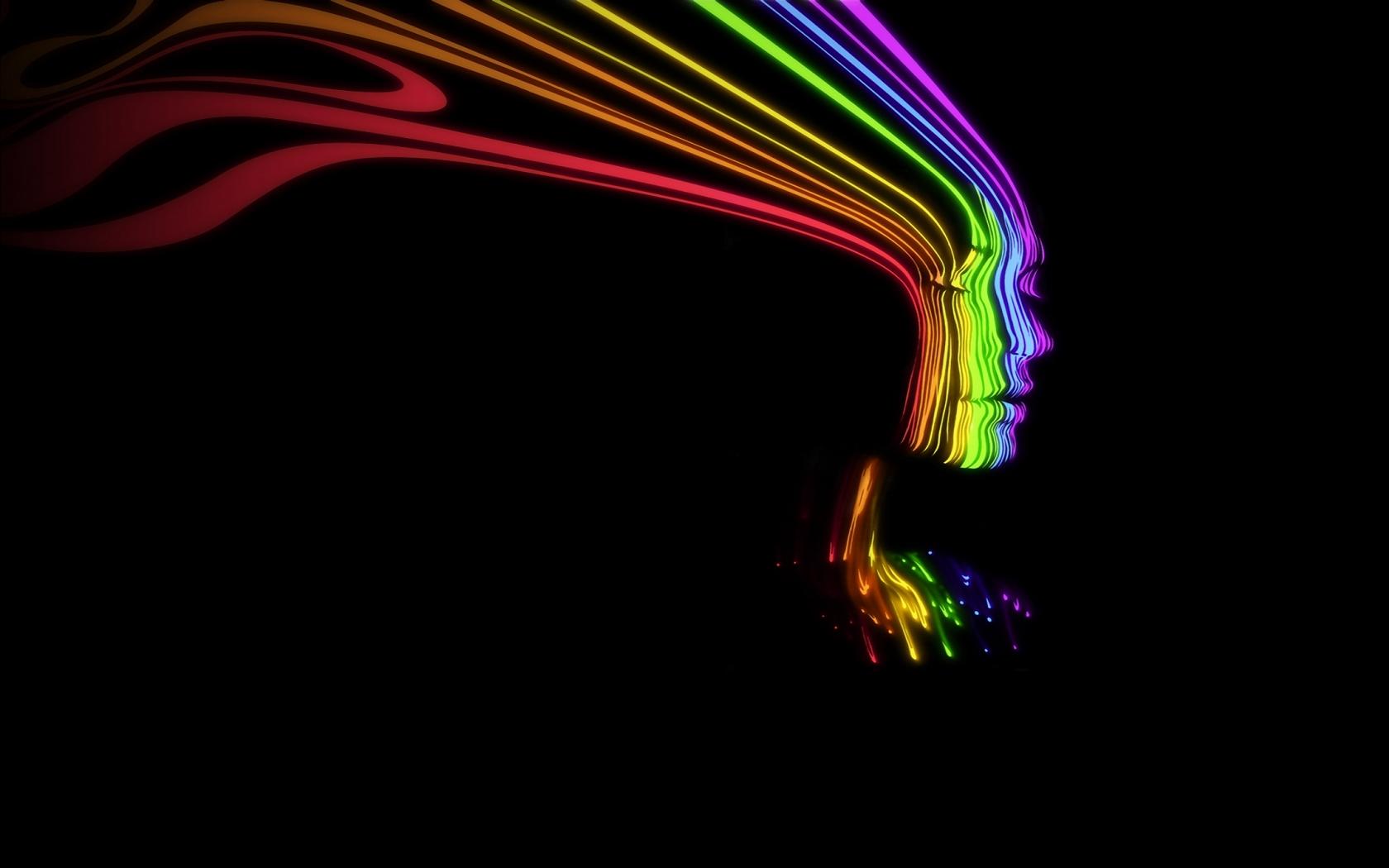 Rainbow Face [1680x1050] Rainbow wallpaper, Rainbow face
