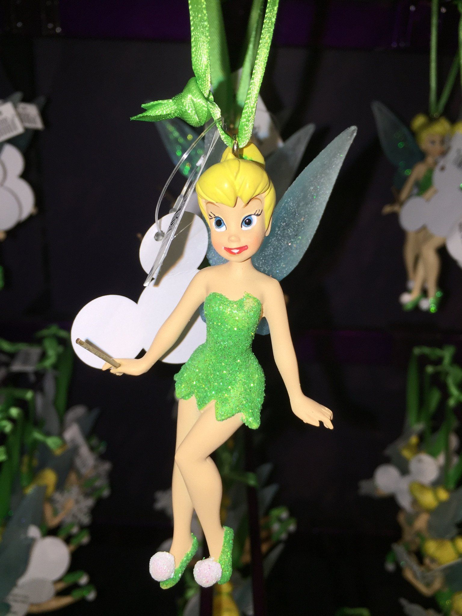 Disney Parks Christmas Tinker Bell with Wand Ornament NEW
