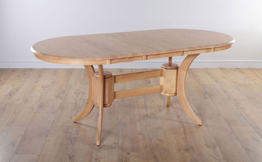 Townhouse Oval Oak Extending Dining Table With 6 Oxford
