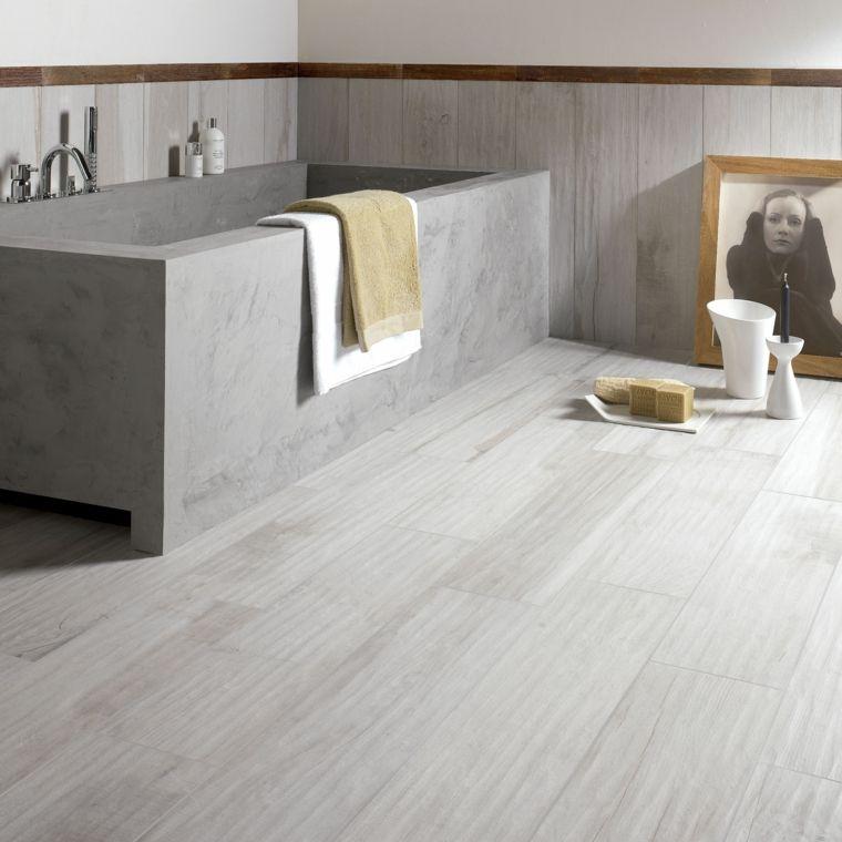 Losas grices en el suelo que imitan madera ideas piso - Suelos porcelanicos imitacion madera ...