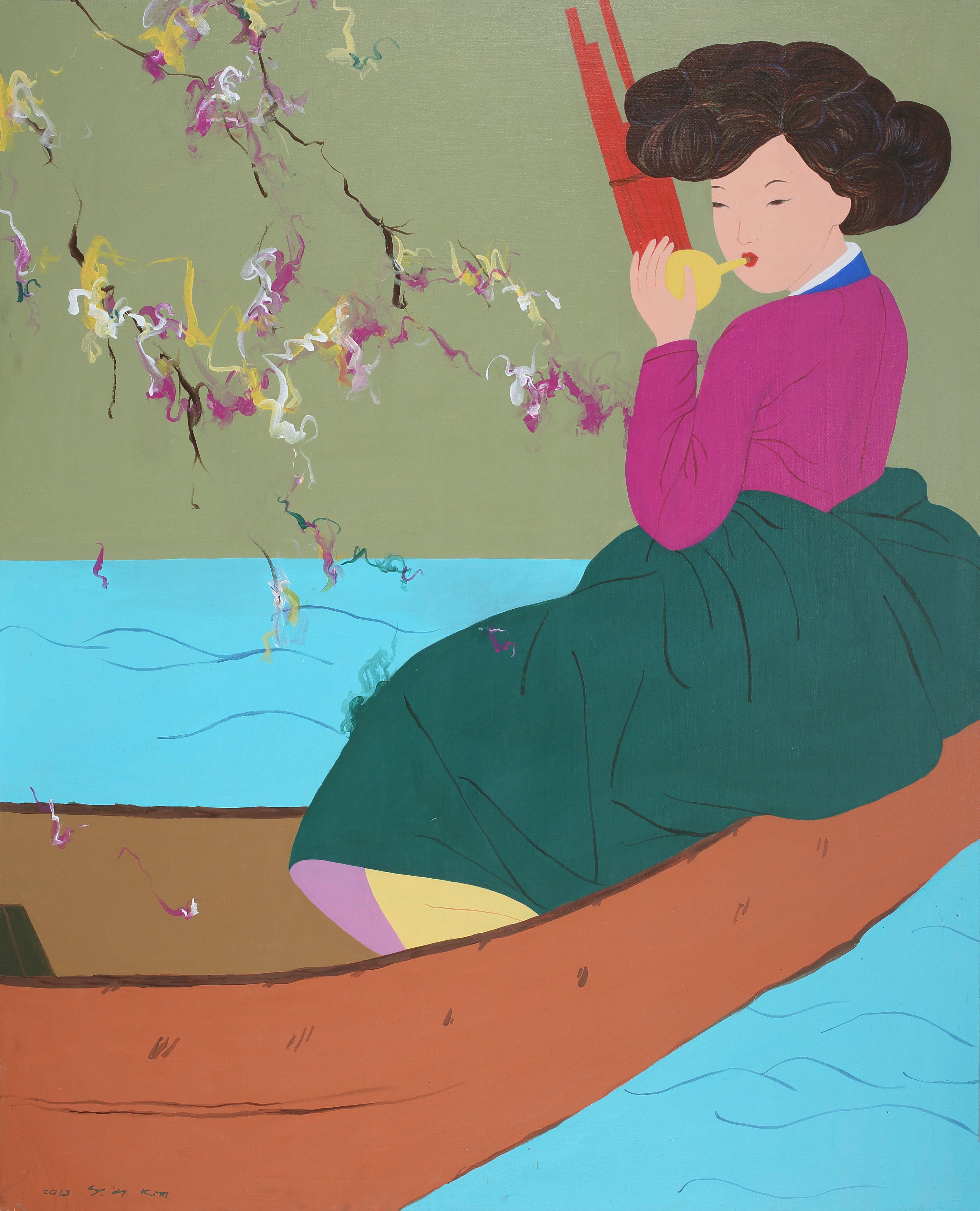 Spring breeze, 162x130cm, Acrylic on Canvas, 2013 by 김양희 / 아트뮤제갤러리