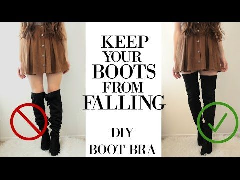 dfbe7a44595d7 DIY: HOW TO KEEP YOUR OVER THE KNEE BOOTS FROM FALLING/SLOUCHING | Under  $10 - YouTube