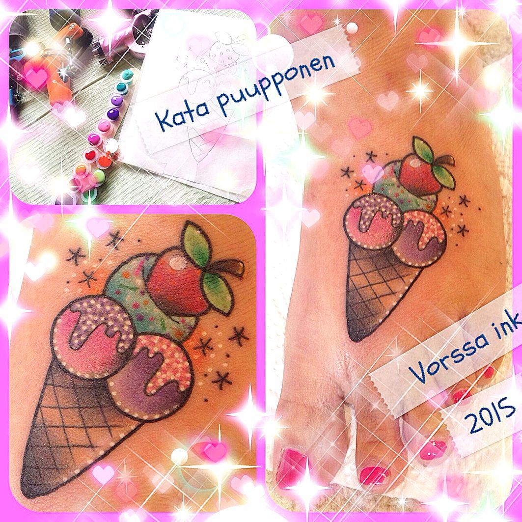 https://www.facebook.com/VorssaInk/, http://tattoosbykata.blogspot.com, #tattoo #tatuointi #katapuupponen #vorssaink #forssa #finland #traditionaltattoo #suomi #oldschool #pinup #icecream