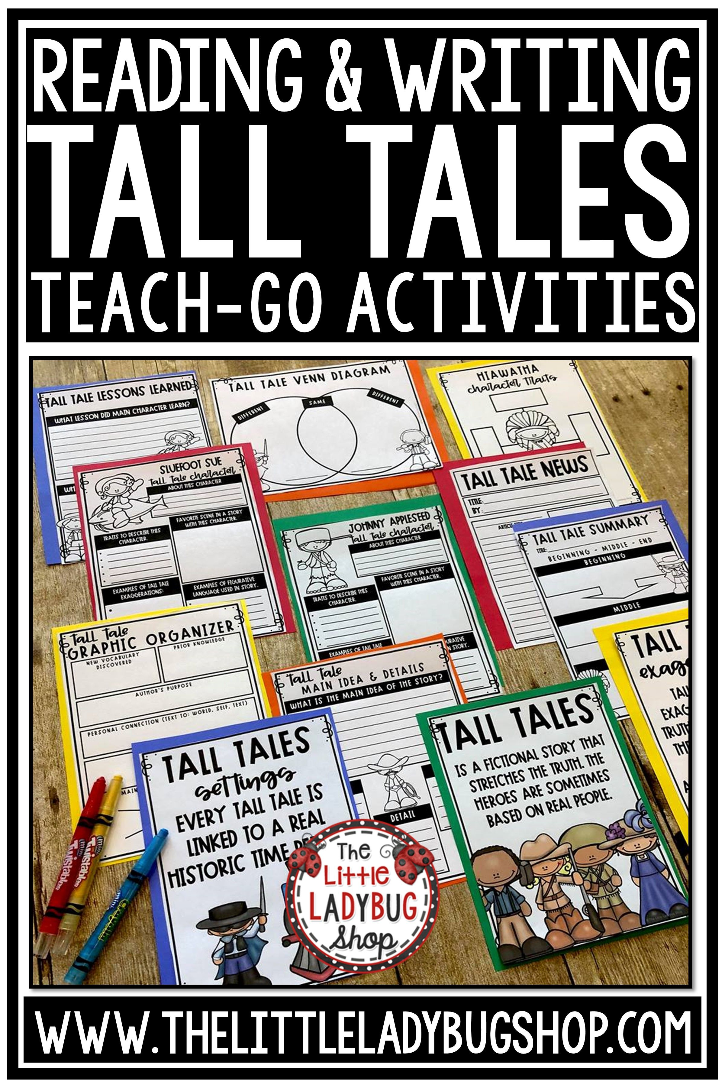 Tall Tales Unit Of Study Reading Graphic Organizers And