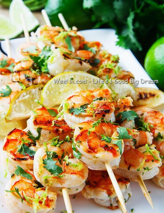 Grilling Spicy and Sour Herb Shrimp - Best Quick Easy Healthy BBQ Food Recipe - http://WEENII.COM