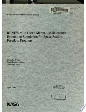 Download RENEW V3.2 User's Manual, Maintenance Estimation