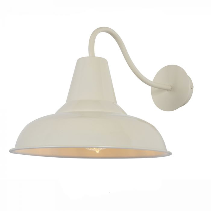 Mars Spun Cowl Wall Light Cream Wall Lights Outdoor Wall