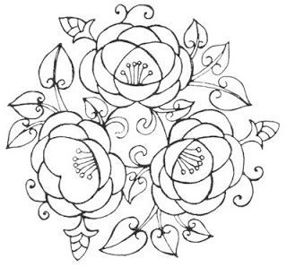 Risks Bauernmalerei Fabric Painting - Painting on Fabric Step by Step with  Rose Embroidery, Floral Embroidery Patterns ...
