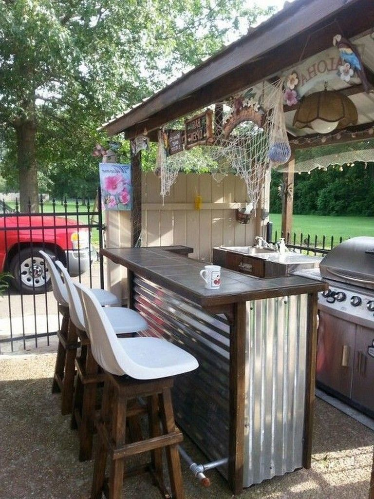 21 Top Small Rustic Kitchen Design Ideas For Outdoor Kitchendesign Kitchenremodel Kitchencabinets Diy Outdoor Bar Outdoor Bar And Grill Backyard Bar