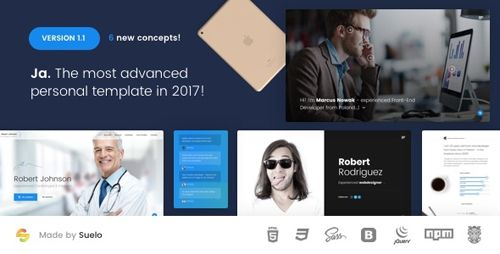 Resume Website Template Download Themeforest Ja V22 Advanced Personal Resume  Cv Vcard