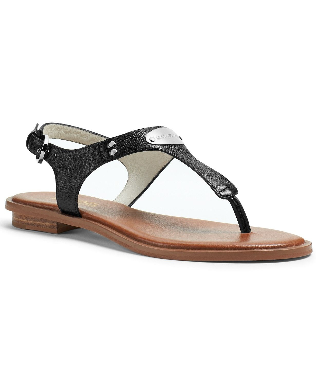 9044281f94ed MICHAEL Michael Kors MK Plate Flat Thong Sandals