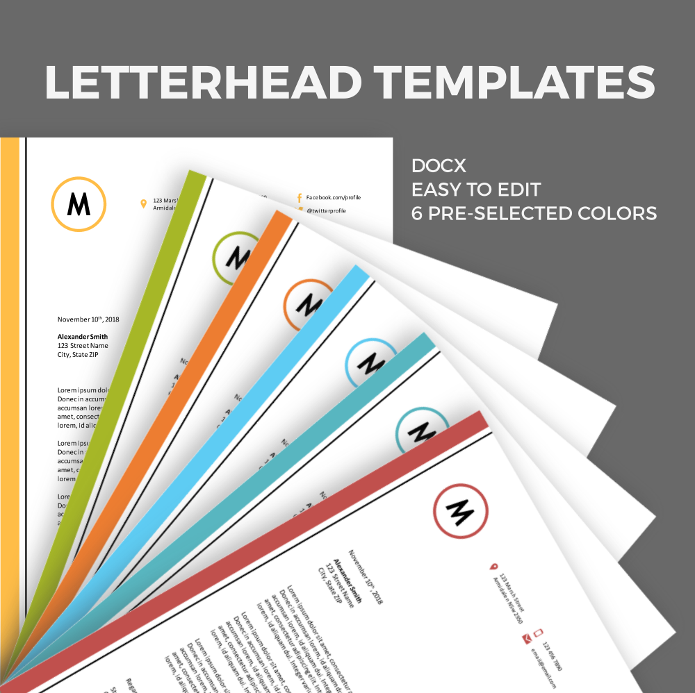 Free Letterhead Template For Ms Word Freebies Pinterest Free