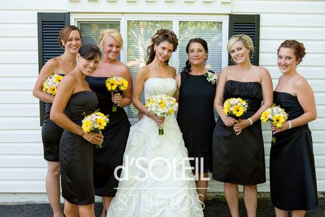 Black And Yellow Wedding