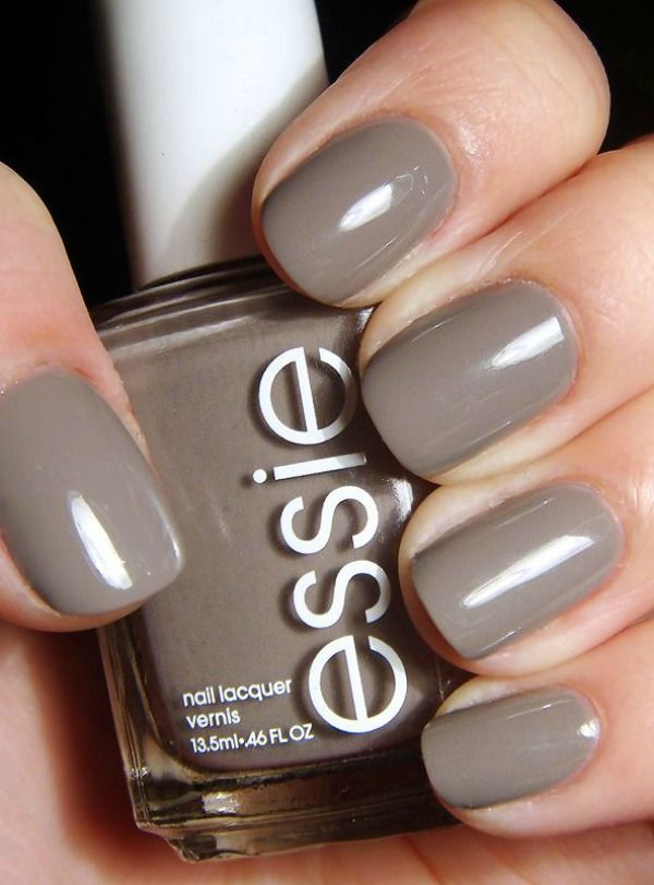 For a more neutral color, Chinchilly by Essie is one cool shade ...