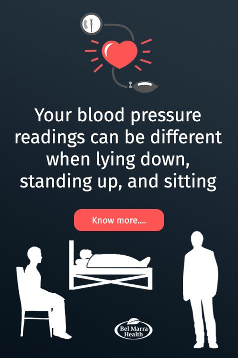 why take blood pressure lying down