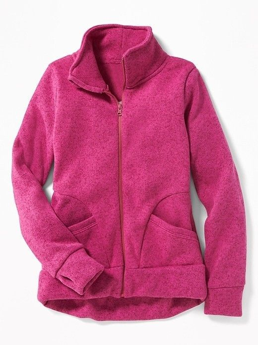 7741cace1 Old Navy Go-Warm Sweater-Knit Fleece Full-Zip Jacket for Girls ...