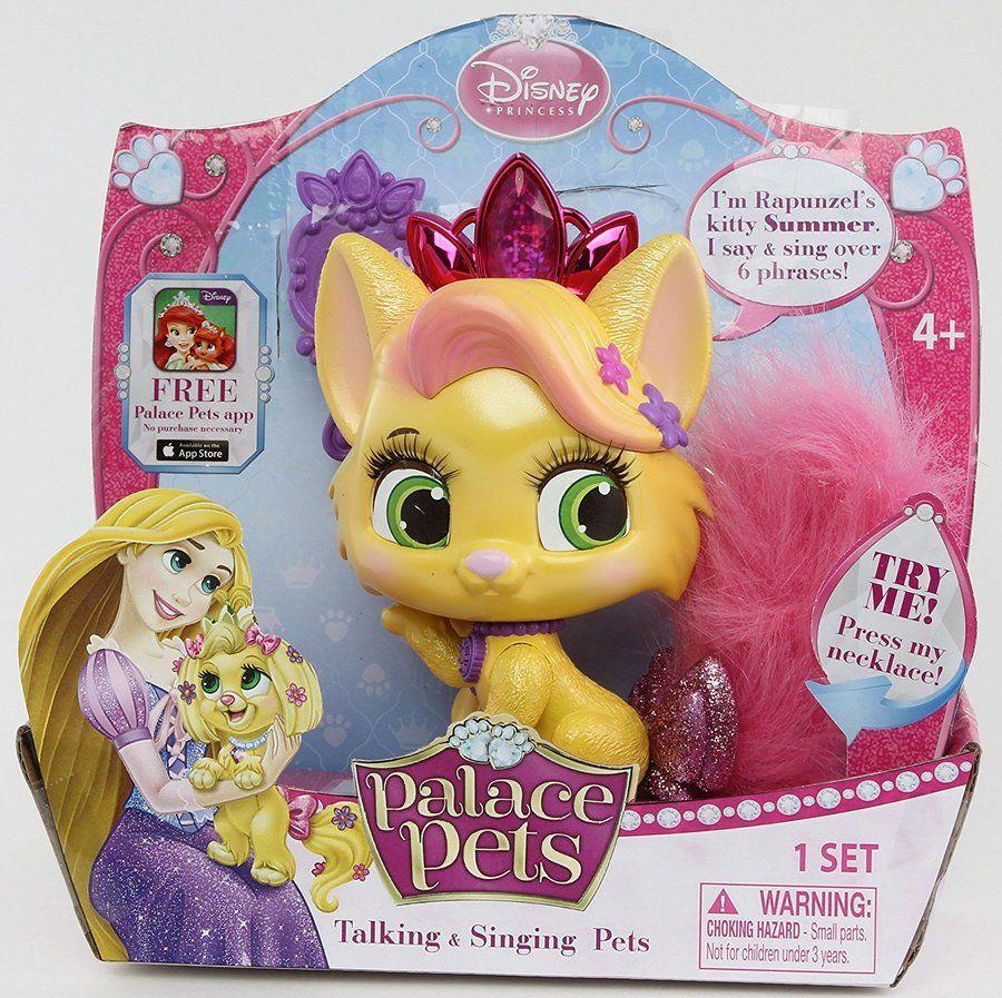 Disney Princess Palace Pets Talking Singing Pets Rapunzel S Kitty Summer Doll Palace Pets Disney Princess Palace Pets Princess Palace Pets