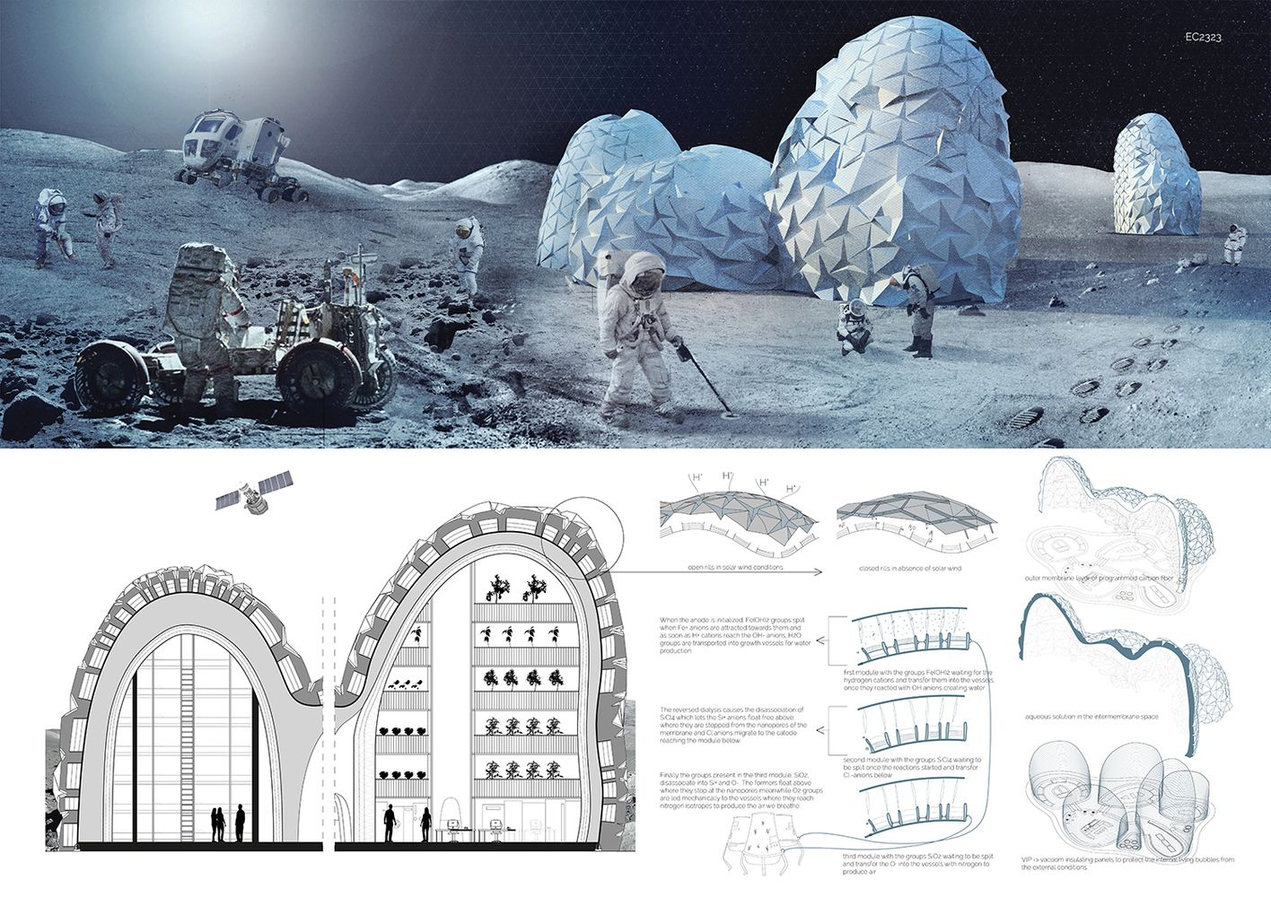 Gallery of 9 Visions for Lunar Colonies Selected as Winners in Moontopia Competition  1 is part of architecture - Image 1 of 20 from gallery of 9 Visions for Lunar Colonies Selected as Winners in Moontopia Competition  Moontopia Competition Winner  TEST LAB  Image Courtesy of ElevenMagazine com