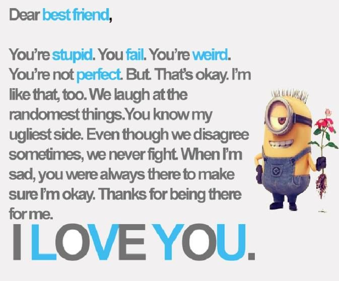 Minion Quotes About Friendship Quotesgram Funny Minion Quotes Friends Funny Friends Quotes Funny