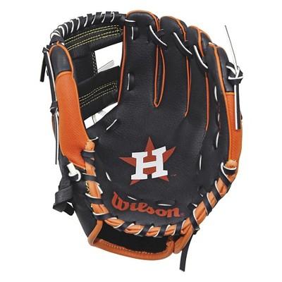 Wilson Houston Astros A200 10 Glove Youth Baseball Gloves Major League Baseball Teams Baseball Gear