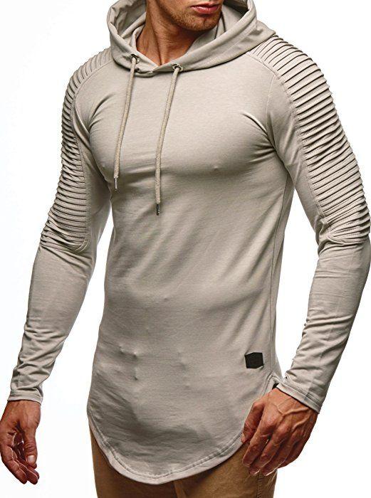 LEIF NELSON Herren oversize Sweatshirt mit Kapuze Hoodie