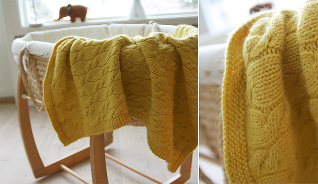 Ravelry: Cabled Cradle Spread pattern by Anna & Heidi Pickles