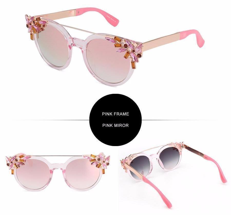 Flower Cat Eye Sunglasses