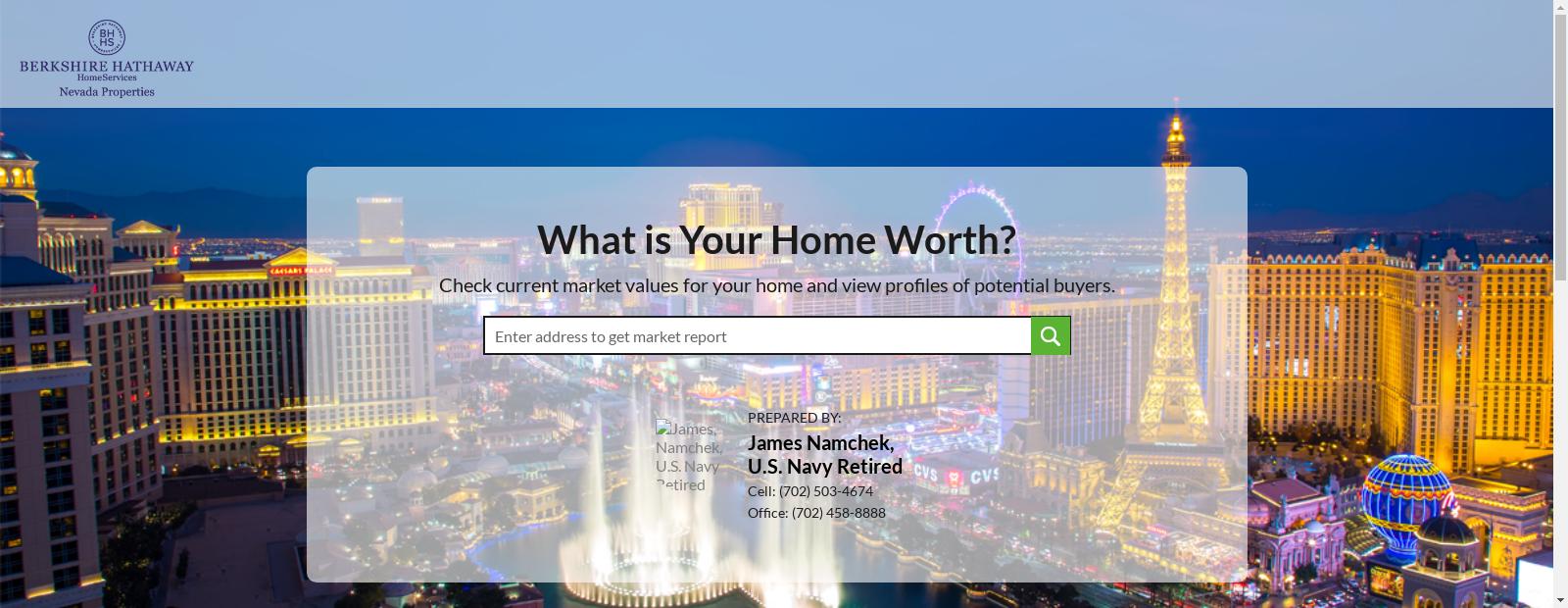 Home Value Estimator By James Namchek U S Navy Retired Nevada
