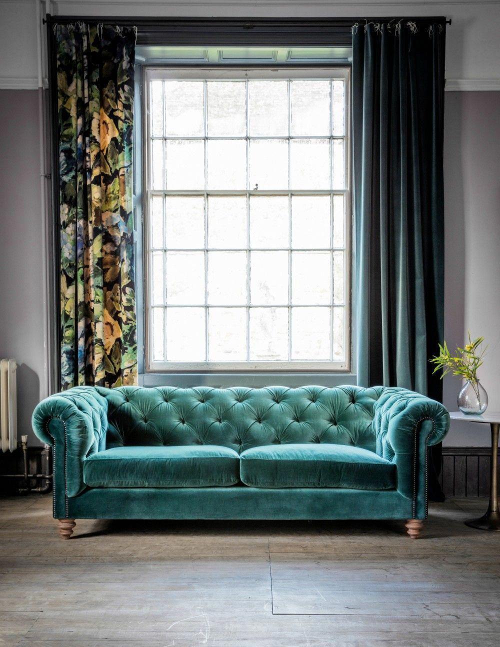Www Roseandgrey Co Uk Velvet Chesterfield Sofa 4 Colours Available Nosto Nosto Page Product1 Livingroommodern Salotto Grigio Soggiorno Blu Tende Soggiorno