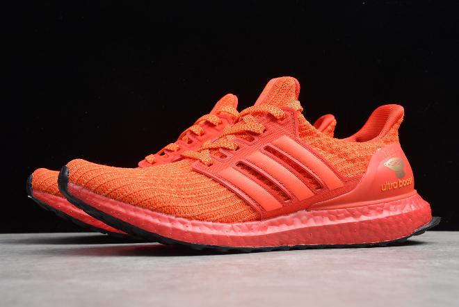 2019 Adidas Ultra Boost 4.0 Orange Red Black White FW3723 in