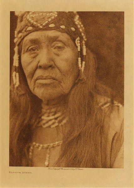 Beautiful Klamath Indian woman