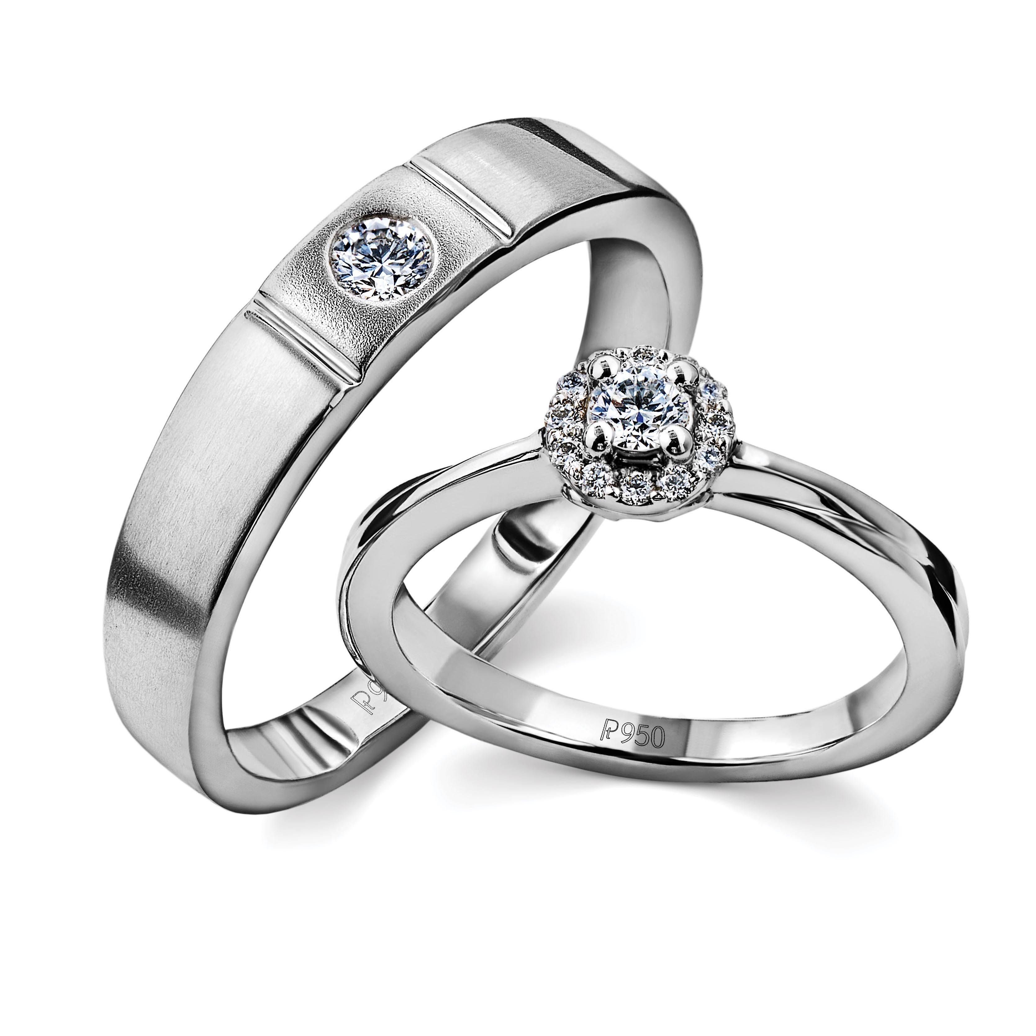 Platinum Rings For Couple With Single Diamonds Jl Pt 593 Engagement Rings Couple Couple Ring Design Couple Wedding Rings