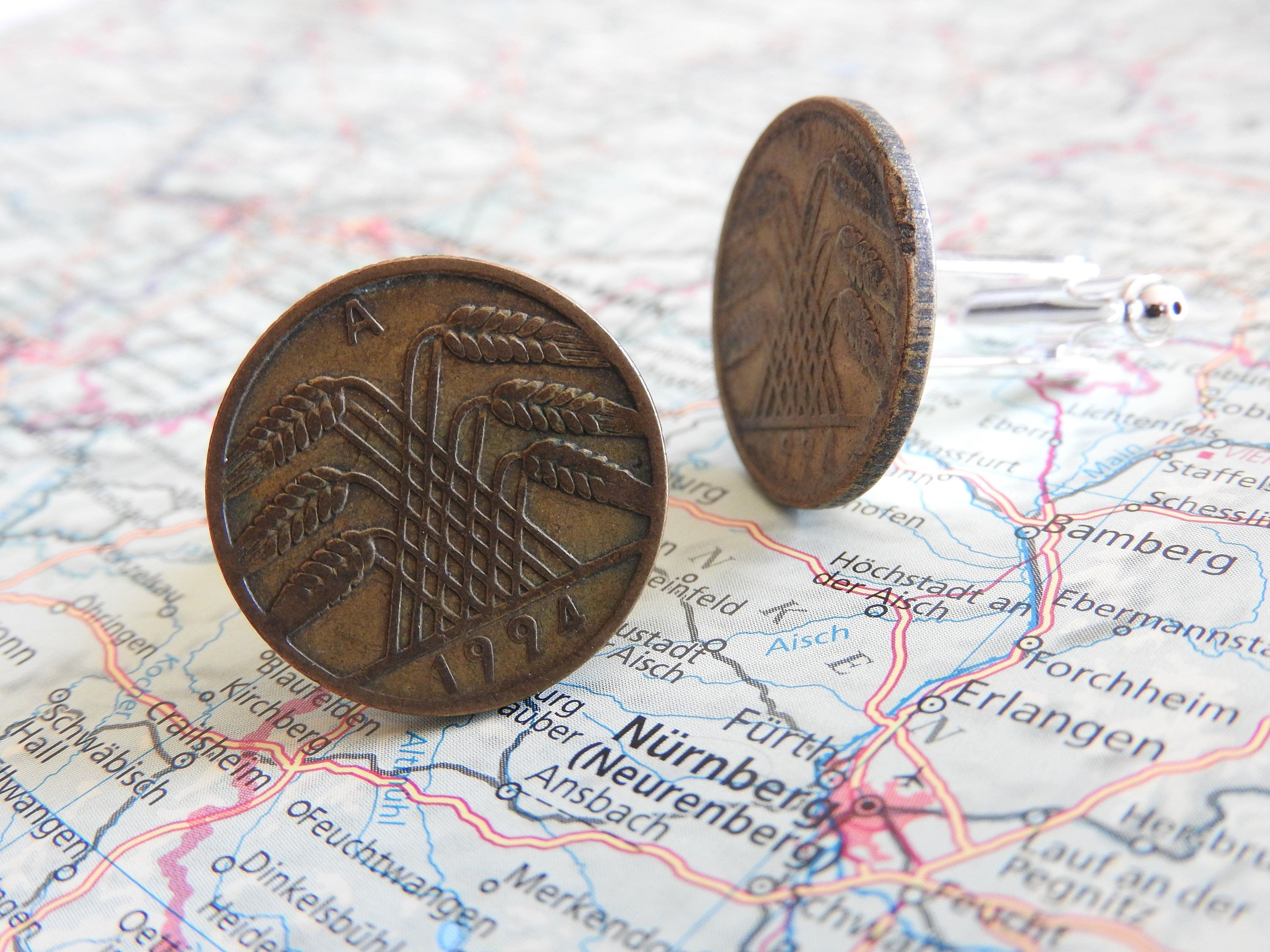 Germany Vintage 19241925 Coin Cufflinks Made Of Vintage 510
