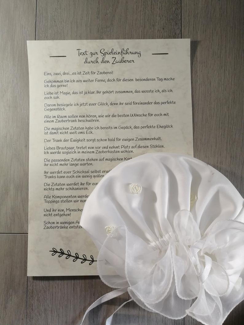 Hochzeitsspiel Trank der Ewigkeit als PDF zum Selbstdruck | Etsy