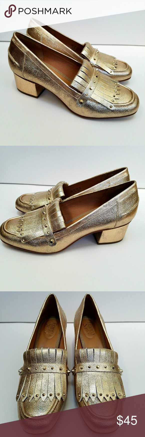 6f8af6a048d NWOB Franco Sarto Lauryn block heeled loafers 8.5 Brand new without box.  Never worn.
