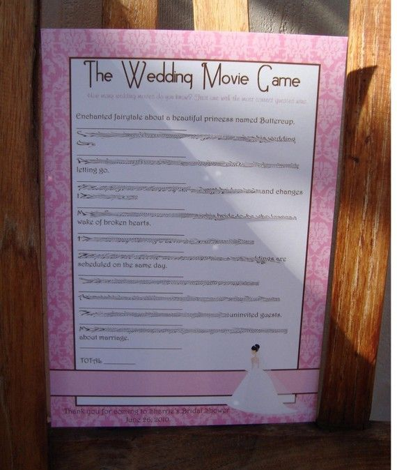 bridal shower games printable guess the wedding movie game bridal shower damask
